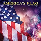America s Flag 2021 12 x 12 Inch Monthly Square Wall Calendar with Foil Stamped Cover by Plato, USA United States of America