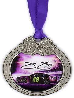 Sparta Jimmie Johnson Car Pewter Metal NASCAR Christmas Ornament