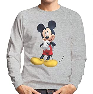 Disney Mickey Mouse Thinking Pose Men's Sweatshirt