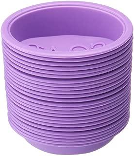JMcall® Silicone Hand Made Soap Mold 25Pcs DIY Handmade Silicone Soap Mold With(Purple,Silica gel)