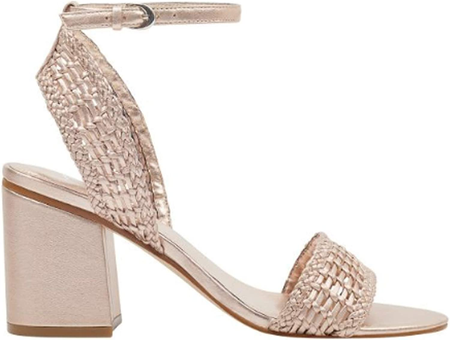 Marc Fisher Womens Amere Ankle Strap Sandal Light Pink Leather 9.5