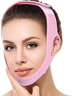 Noverlife Facial Lifting Belt for Women, V-Line Chin Cheek Lift Up Band Anti Wrinkle Bandage, Slimming Bandages Double Chin Care Weight Loss V Face Belts Correction Belt