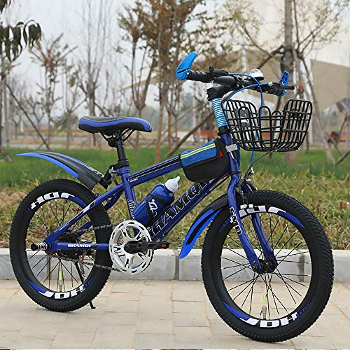 DODOBD Kids' Bicycles,Kids Bike with Brakes and with Air Tires Kids Bike Bicycle with Kickstand for Kids Age 15 Year Old Boys Girls -18 Inch(High Carbon Steel Material)