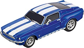 Carrera 64146 Ford Mustang '67 Racing Blue GO!!! Analog Slot Car Racing Vehicle 1:43 Scale