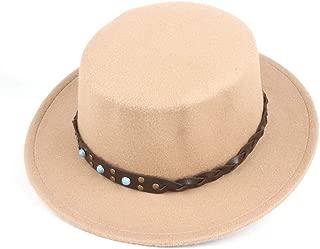 Hat Size 56-58CM Men Women Flat Top Hat Wide Brim Chuch Hat Party Chuch Hat Fascinator Hat Fashion Hat