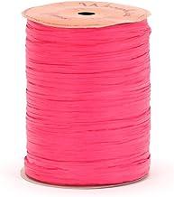 Berwick Offray Matte Hot Pink Raffia Ribbon, 1/4'' Wide, 100 Yards