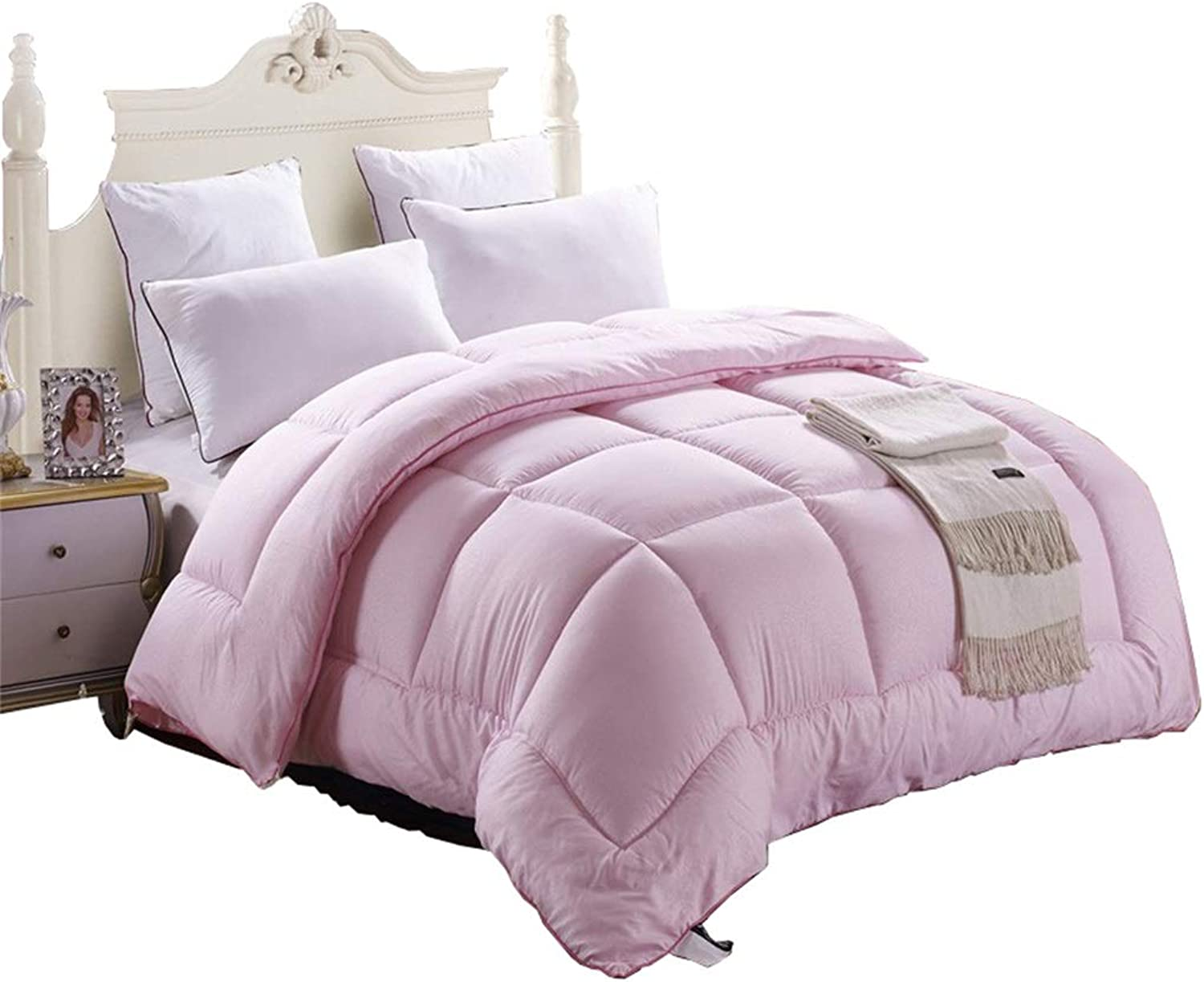 Warm Quilt Luxury Duvet Winter Thicken Keep Warm Single Double Bedding - Pink Quilt Home Student Dormitory - All Cotton Fabric Quilting Quilt Antiallergic Quilt (Size   150  200cm 2.5kg)