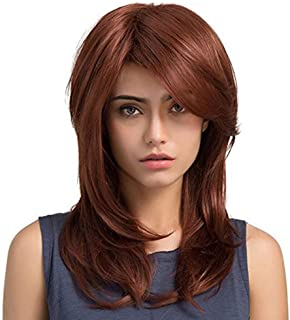 Asdfnfa Long Straight Wig Red Hair Wigs Full Synthetic Hair for Women Heat Resistant Fiber Glueless Wig
