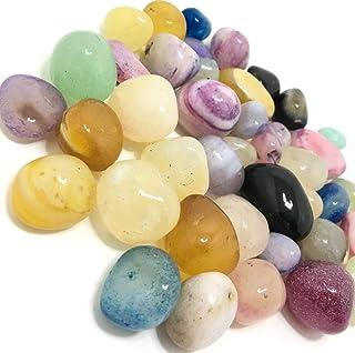 Schmick 1 KG Multicolor Glossy Pebbles for Decoration - Mixed Onyx Decorative Stones and Pebbles for Plants Pots, Home Dec...