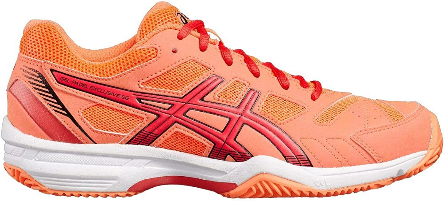 ASICS Gel Padel Exclusive 4SG Red Coral White e565q 0619