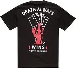 RUSTY BUTCHER Loser Mens T-Shirt, Black, Large