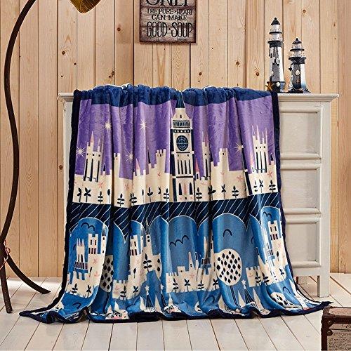 Global- couvertures de la personnalité de la mode loisirs couverture Climatisation couverture siesta couverture loisirs bureau de couverture tapis Coral draps polyester tapis (taille : 200 * 230cm)