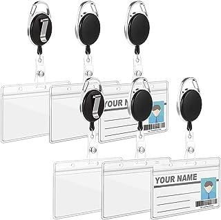 Gufo 2 Pezzi Portabadge Badge Apribile Cristallo Accessorio Moda Per Donna Uomo