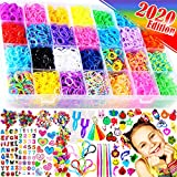 FunzBo Loom Bands Bracelet Making Kit - Rubber Bands Maker Refill Kits Set 10 in 1 Super 11900+ Rainbow Colored Rubberband - DIY Crafting Craft Art Bracelets Accessories Gift for Kids Age 5 6 7