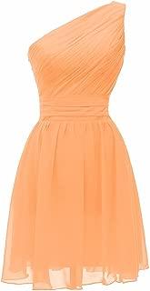 CladiyaDress Women One Shoulder Chiffon Short Bridesmaid Dress Homecoming Gown D195LF