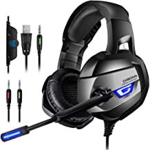 ONIKUMA Gaming Headset for PS4, PS4 Gaming Headset with...