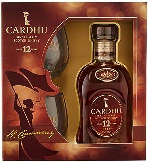 Cardhu 12 Jahre Single Malt Scotch Whisky Set 1x 0,7 Liter inkl. 2 Original Gläser und Geschenkkarton
