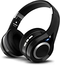 ELEGIANT Cascos Bluetooth Inalámbricos, Auriculares Bluetooth Diadema con Micrófono CVC 6.0 Cancelación Ruido Manos Libre Sonido Nítido Estéreo 16H de Duración para TV Móviles IOS Android, Negro