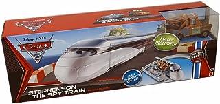 Disney / Pixar CARS 2 Movie Maters Secret Mission Vehicle Playset Stephenson The Spy Train Includes 155 Scale Mater Vehicle