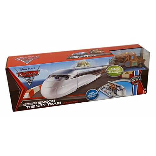 Disney / Pixar CARS 2 Movie Maters Secret Mission Vehicle Playset Stephenson The Spy Train Includes 155 Scale Mater Vehicle