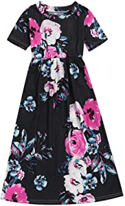 HEETEY Girls Princess Dress  Fashion Toddler Baby Girl Kid Flower Print Princess Party Dress Outfits Clothes Baby Girl Clothing Tops Outfit