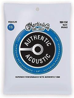 Martin Authentic Acoustic MA150 Medium-Gauge Acoustic Guitar Strings, 80/20 Bronze