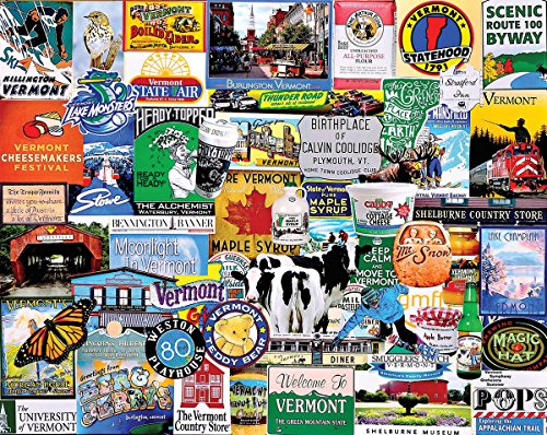 White Mountain Puzzles I Love Vermont - 1000 Piece Jigsaw Puzzle