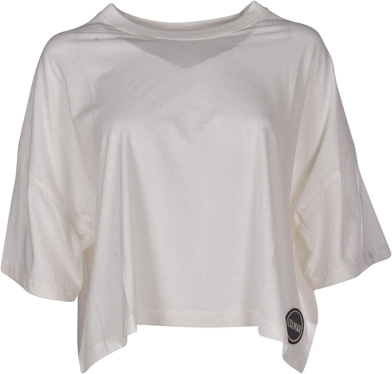 Colmar Originals Women's 86047SI233 White Cotton TShirt