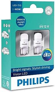 Philips Vision LED Interior T10 W5W Bulbs 6000K Xenon White 12V 127916000KX2