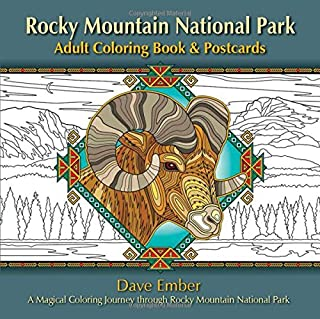 Rocky Mountain National Park Adult Coloring Book & Postcards: A Magical Coloring Journey through Rocky Mountain National Park