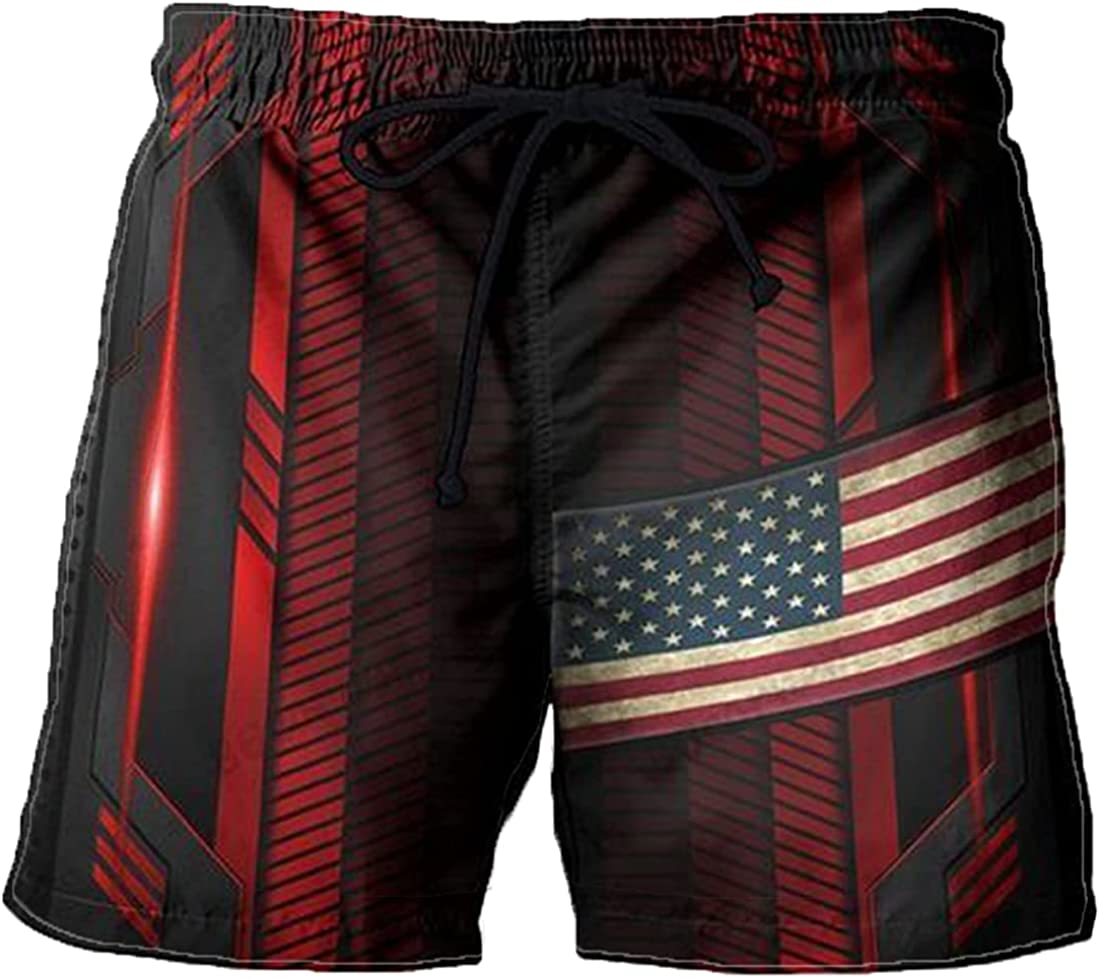 Flag Mens Swim Trunks - Swimming Men for ! Super beauty product restock quality top! Drawst Country Direct store