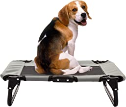 Bestmart Elevated Pet Cot with Steel Frame,Indoor/Outdoor Large Dog Bed Foldable Raised Play and Rest Bed for Dogs and Cat...