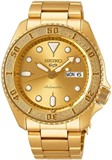 Seiko Sport 5 Facelift Automatic Stainless Steel Golden Watch SRPE74K1