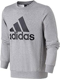 adidas 阿迪达斯男装 春季 圆领针织卫衣舒适透气套头衫时尚休闲运动服