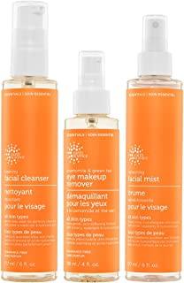 EARTH SCIENCE Cleansing Set Daily Face Essentials Skincare Beauty Bundle: All Skin Types