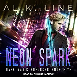 Neon Spark     Dark Magic Enforcer, Book 5              By:                                                                                                                                 Al K. Line                               Narrated by:                                                                                                                                 Gildart Jackson                      Length: 6 hrs and 17 mins     22 ratings     Overall 4.7