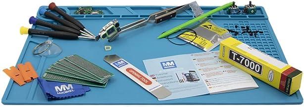 MMOBIEL Antistatische magnetische siliconen reparatie werkmat, soldeermat werkonderlegger Soldering Mat 35x25cm 350g (blauw)