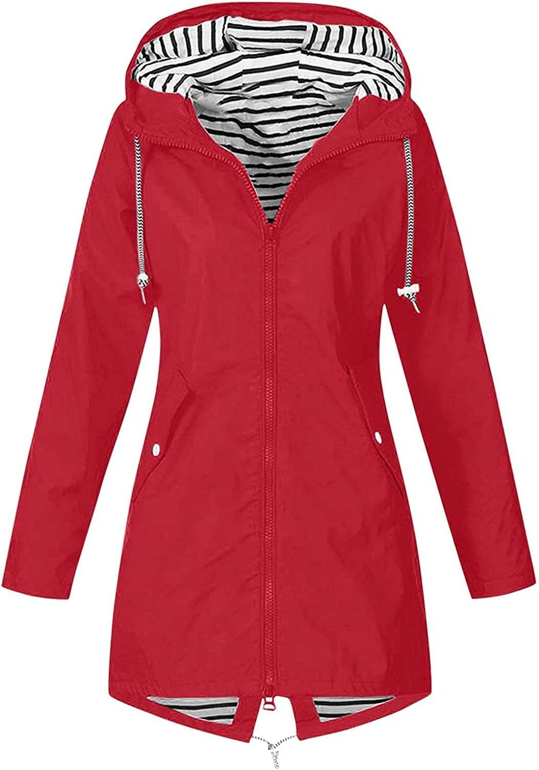 Staron Women Jacket with Hood Casual Solid Hoo Tunic Zip Up Beauty products Full Charlotte Mall