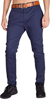I.TALYMORN Men's Chino Business Flat Front Casual Pants 32W x 32L Navy Blue