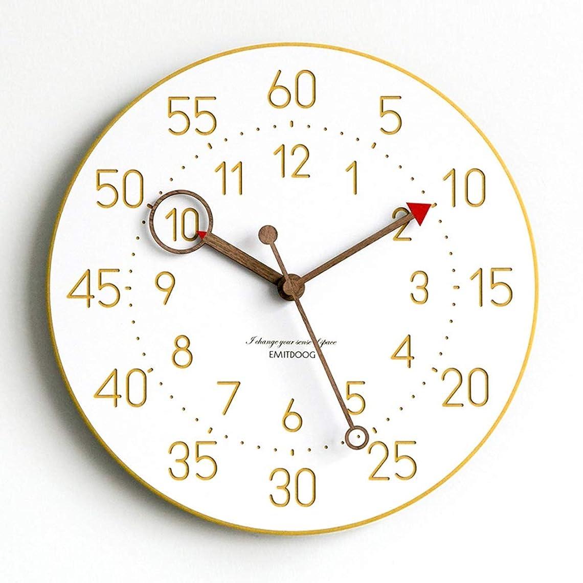 リラックスしたかんがい肖像画リビングルームファッションクリエイティブファッションウォールクロック現代のミニマリストのホームクロックヨーロッパの北欧のクォーツ時計 JSFQ (Color : A)