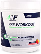 NF Sports Pre-Workout - Supports Energy, Cognitive Function, Strength, and Muscular Endurance to Optimize Workouts– Strawberry Lemonade Flavor - 100% Satisfaction Guaranteed - 25 Servings
