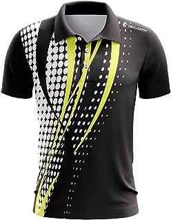 Triumph Men's Polyester Printed Designer Badminton Jersey Black