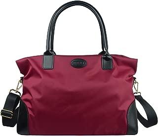 Unisex Large Travel Weekender Bag Duffle Bag Gym Totes in Trolley Handle, Red