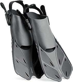 CAPAS Snorkel Fins, Swim Fins Travel Size Short Adjustable for Snorkeling Diving Adult Men Women Kids Open Heel Swimming F...