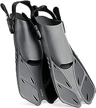 CAPAS Snorkel Fins، Swins Fins اندازه مسافرت کوتاه قابل تنظیم برای غواصی غواصی در بزرگسالان زنانه بچه ها بچه گانه کفش پاشنه بلند