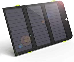 GIARIDE 21W Portable Solar Charger 4 USB Port Quick Charge 6000mAh Battery SunPower Solar Panel Foldable Power Bank for iPhone X/8/7/6/Plus, iPad, Galaxy, LG, Pixel, Tablet, Travel, Camping, Hiking