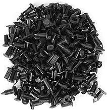 100 stuks carrosserie kunststof klinknagels, 8 mm gat diameter kunststof bumper spatbord klinknagels houder push clips zwart