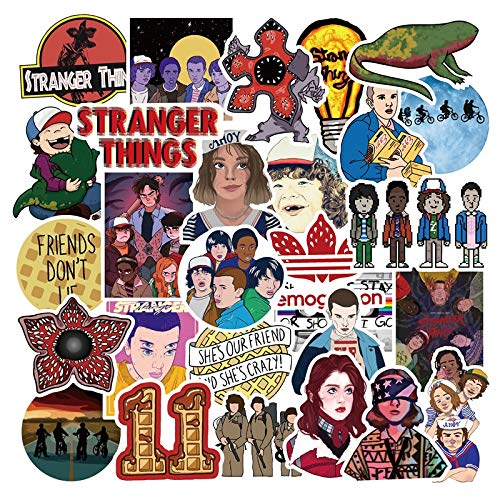 Very Stranger Things Stickers Pack For Kids Boys On The Laptop Fridge Phone Skateboard Luggage Movie Stanger Sticker 50pcs