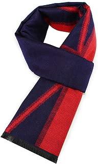 AMDXD Cotton Men Scarf Flag Rhombus Scarf Switch Autumn Scarf for Winter Autumn 180CM