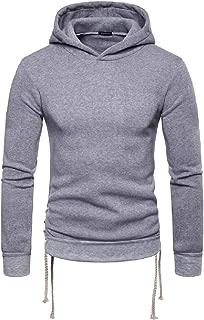 Mens Casual Long Sleeve Slim Fit Hoodie Lightweight Basic Designed Sweatshirt